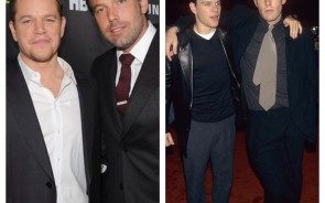The bros, Matt Damon and Ben Affleck have been starring in movies together since the beginning of their careers. They probably won't be as famous as they are now without each other. Their first red carpet appearance came in 1997 during the Chasing Amy movie premiere. Here is Ben and Matt together looking like rookies to this celebrity thing. They look more like high school friend at a school dance. The two were most recently spotted on the red carpet for Project Greenlight. This time they looked like they got the celebrity thing down packed.