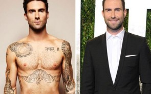 Rock star Adam Levine has a body fit for indie-loving girls worldwide. Covered in artistic tattoos, the Maroon 5 frontman has become a music hunk in recent years. He might look insanely hot in a suit too but we're all about those tatts